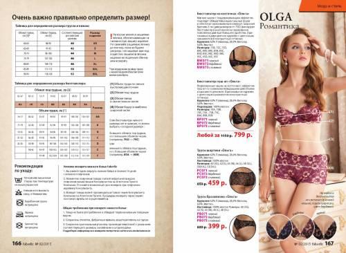 Таблица размеров нижнего белья фаберлик для женщин